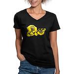 Chimp Women's V-Neck Dark T-Shirt