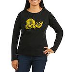 Chimp Women's Long Sleeve Dark T-Shirt