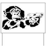 Black chimp Yard Sign