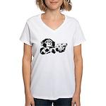 Black chimp Women's V-Neck T-Shirt