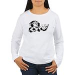 Black chimp Women's Long Sleeve T-Shirt