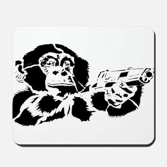 Black chimp Mousepad