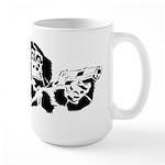 Black chimp Large Mug