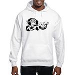 Black chimp Hooded Sweatshirt