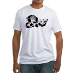 Black chimp Fitted T-Shirt