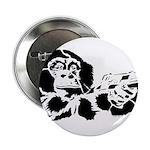 """Black chimp 2.25"""" Button (10 pack)"""