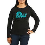 Blue chimp Women's Long Sleeve Dark T-Shirt