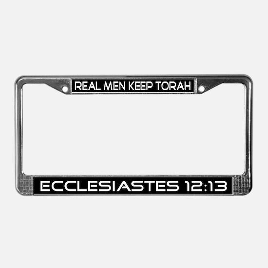 """Real Men Keep Torah"" License Plate Frame"