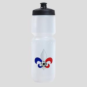 French Fleur De Lis Sports Bottle