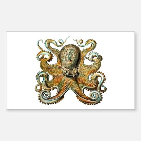 Octopus Sticker (Rectangle)