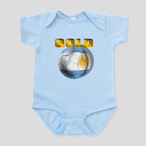 Argentina Soccer Gold Infant Bodysuit