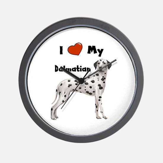 I Love My Dalmatian Wall Clock