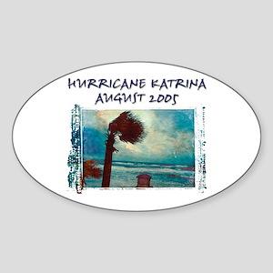 Hurricane Kristina Photo Oval Sticker