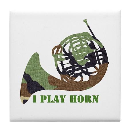 Camo French Horn Tile Coaster