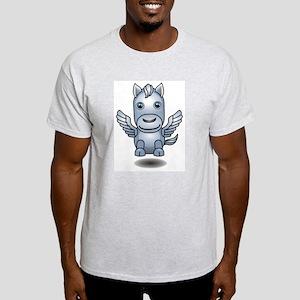 Cute 3D Pegasus Ash Grey T-Shirt
