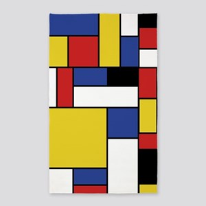 Mondrian Geometric Art Area Rug