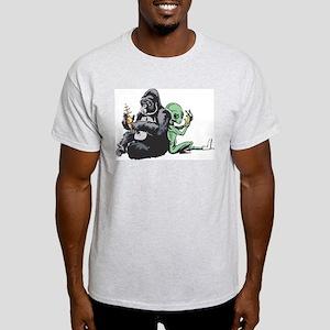Alien and Gorilla Light T-Shirt
