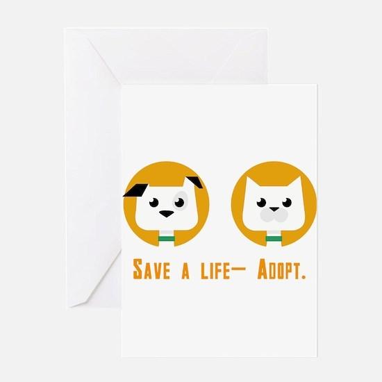 Save a life- Adopt Greeting Cards