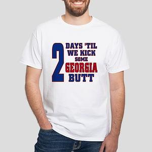 2 days until we kick Georgia butt White T-Shirt