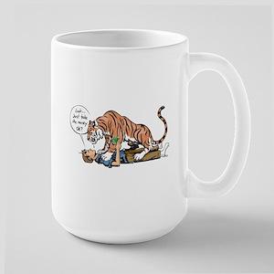 Tiger mugging Large Mug