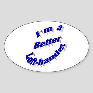 Better Left-hander Oval Sticker