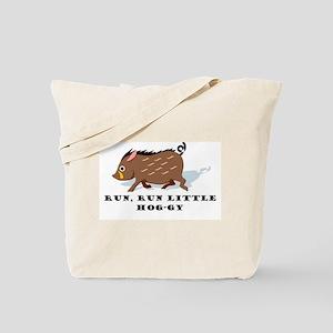 Run Lil' Hog Tote Bag