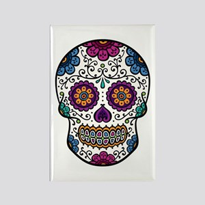 Sugar Skull Rectangle Magnet