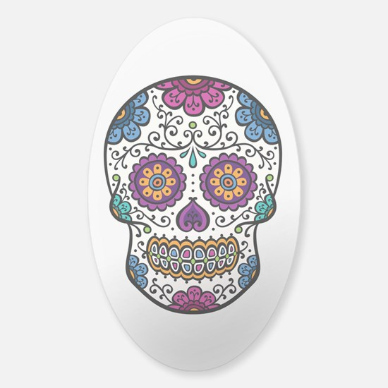Sugar Skull Sticker (Oval)