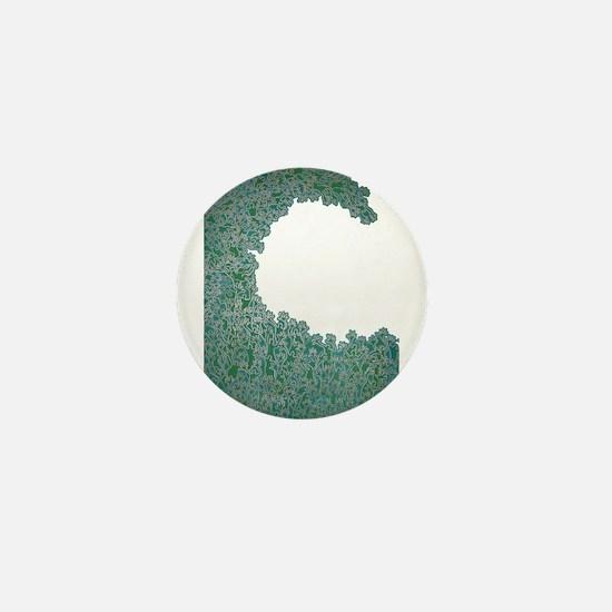 Green Wave Mini Button