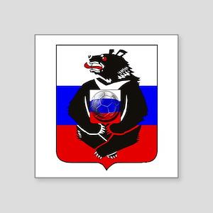 Russian Football Bear Sticker
