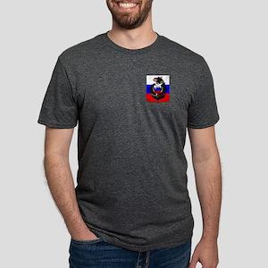 Russian Football Bear Mens Tri-blend T-Shirt