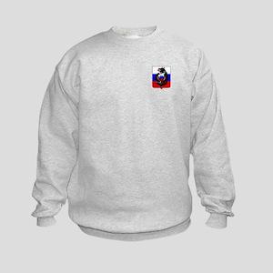 Russian Football Bear Kids Sweatshirt