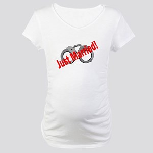 Just Married (Handcuffs) Maternity T-Shirt