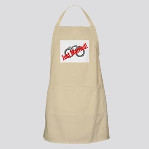 Just Married (Handcuffs) BBQ Apron