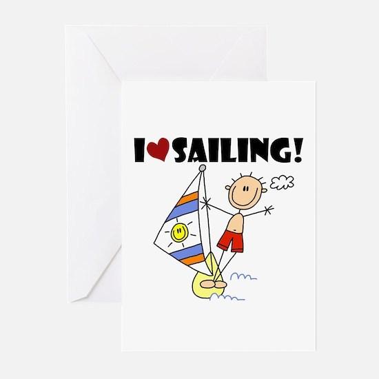 I Love Sailing Greeting Cards (Pk of 10)