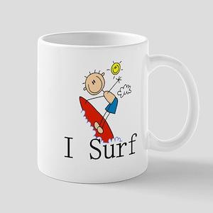 I Surf Stick Figure Mug
