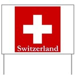 "Swiss Cross-2 14"" SQ on Yard Sign"