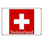 "Swiss Cross-2 28"" SQ on Banner"