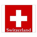 "Swiss Cross-2 16"" SQ on Small Poster"