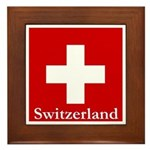 Swiss Cross-2 Framed Tile