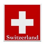 Swiss Cross-2 Tile Coaster