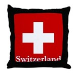 Swiss Cross-2 Throw Pillow