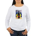 Black Cat Halloween Women's Long Sleeve T-Shirt