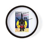 Black Cat Halloween Wall Clock