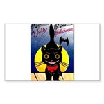 Black Cat Halloween Rectangle Sticker