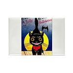 Black Cat Halloween Rectangle Magnet (100 pack)