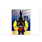 Black Cat Halloween Postcards (Package of 8)