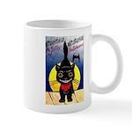Black Cat Halloween Mug