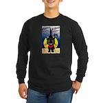 Black Cat Halloween Long Sleeve Dark T-Shirt