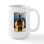 Black Cat Halloween Large Mug
